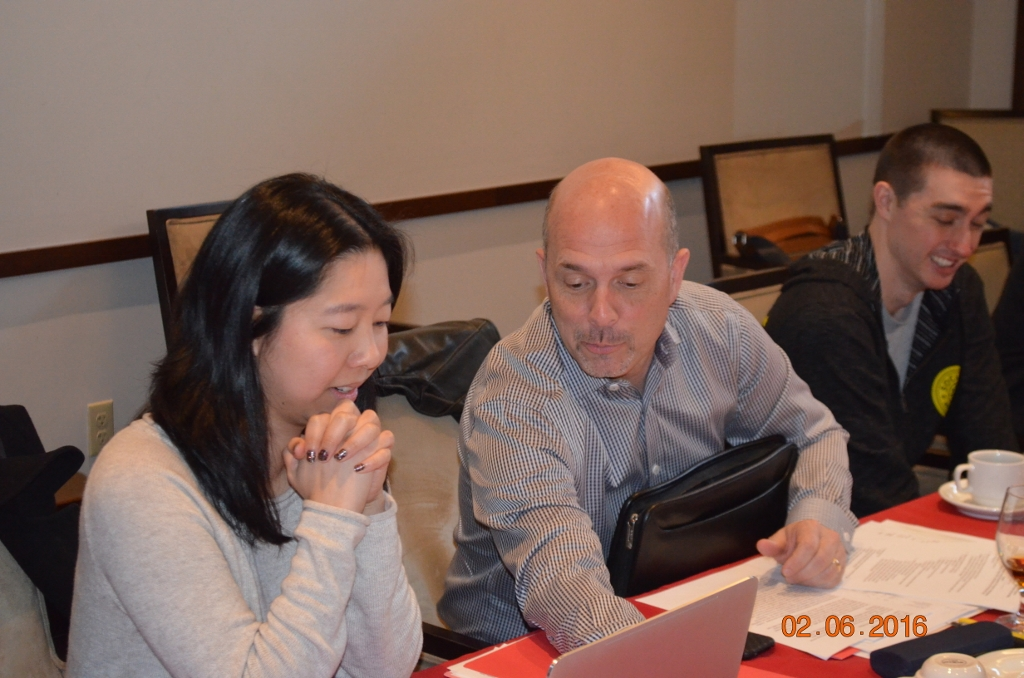 Vivian and Gary, reviewing an item on the Board Annual Meeting agenda