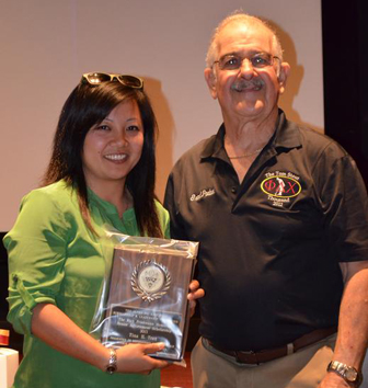 Tina Tran is the 2013 recipient of The Rick Friedmann Memorial Senior Achievement Scholarship presented by Ralph Saroyan, CFO.