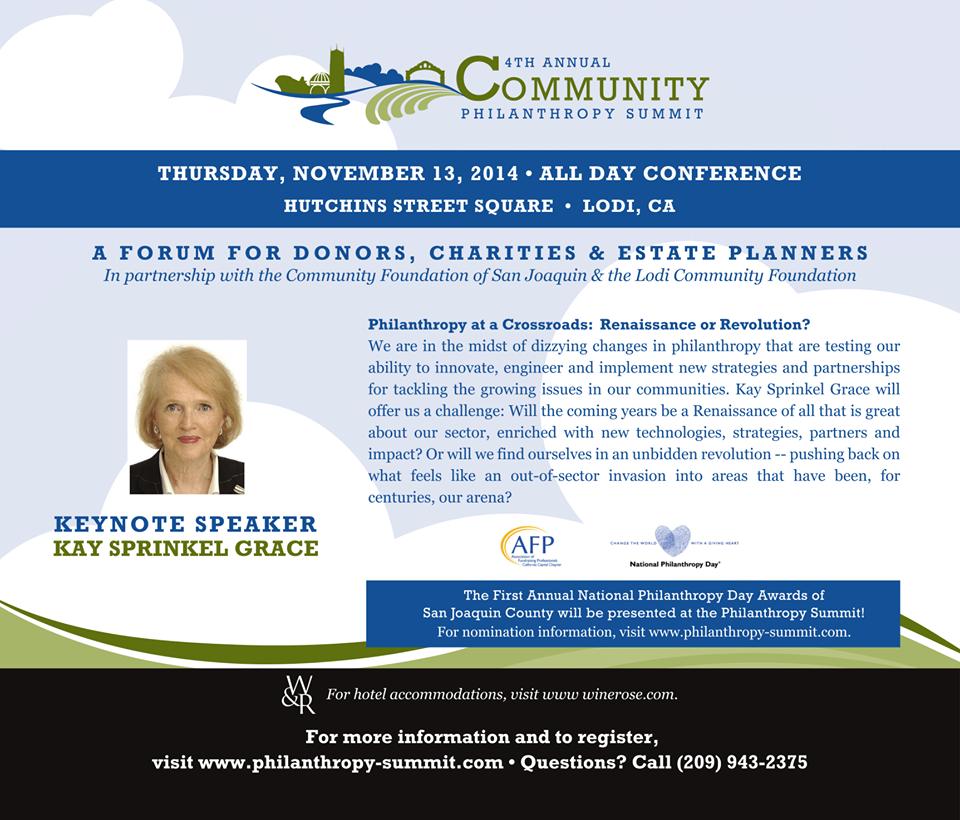 philantropy conference 2014