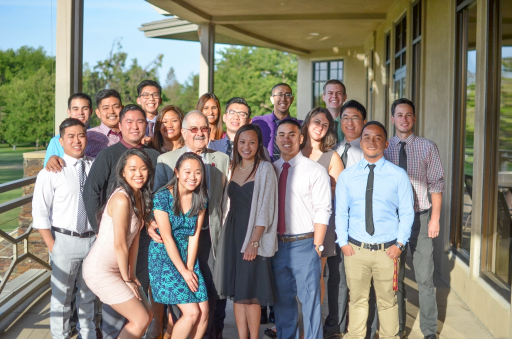 The 2015 Graduates honored at the Alpha Psi ES&L Foundation 3rd Annual Banquet with Ralph Saroyan
